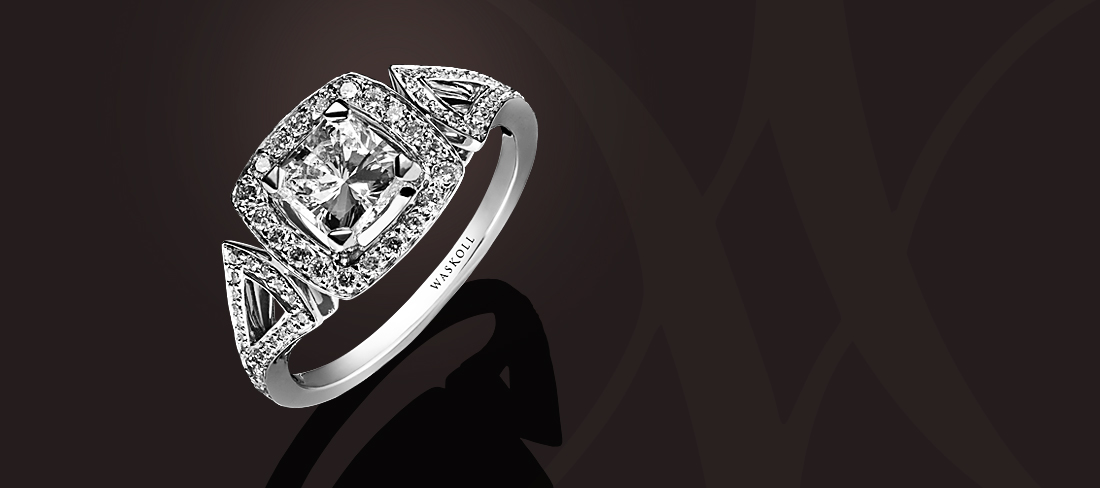 Dentelle Bague Diamant taille Princesse