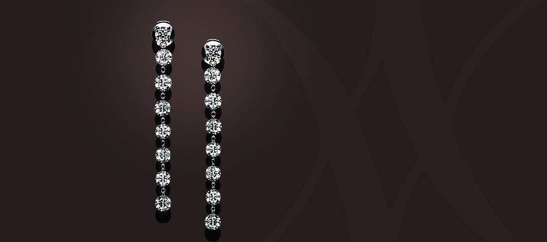 Diamond Chain BO Diamants Platine GD