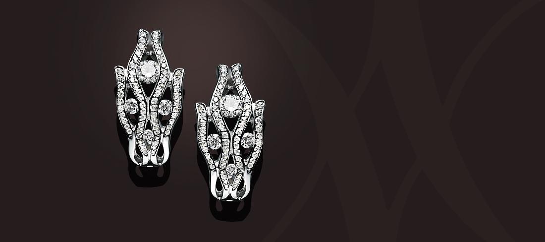 Flamme BO Diamants pavage diamants