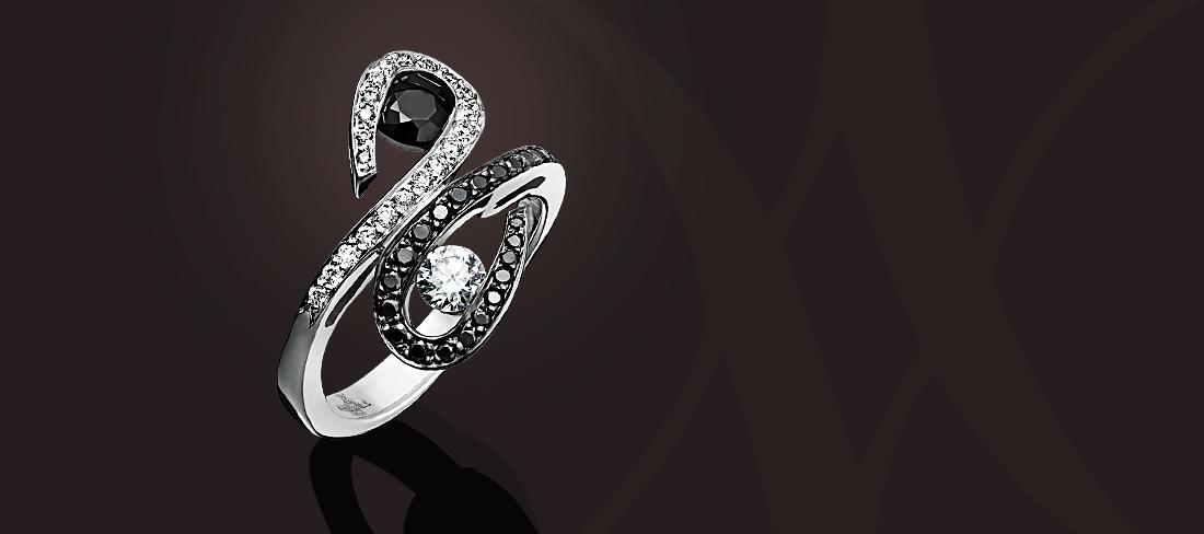 Parfums du Monde-Bague OB Diamants noirs