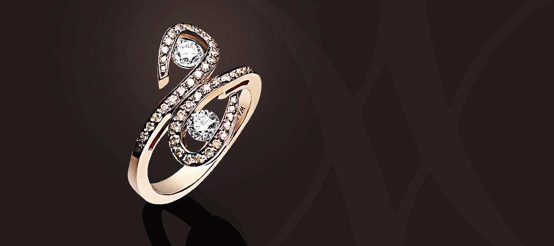 Parfums du Monde Bague OR Diamants bruns
