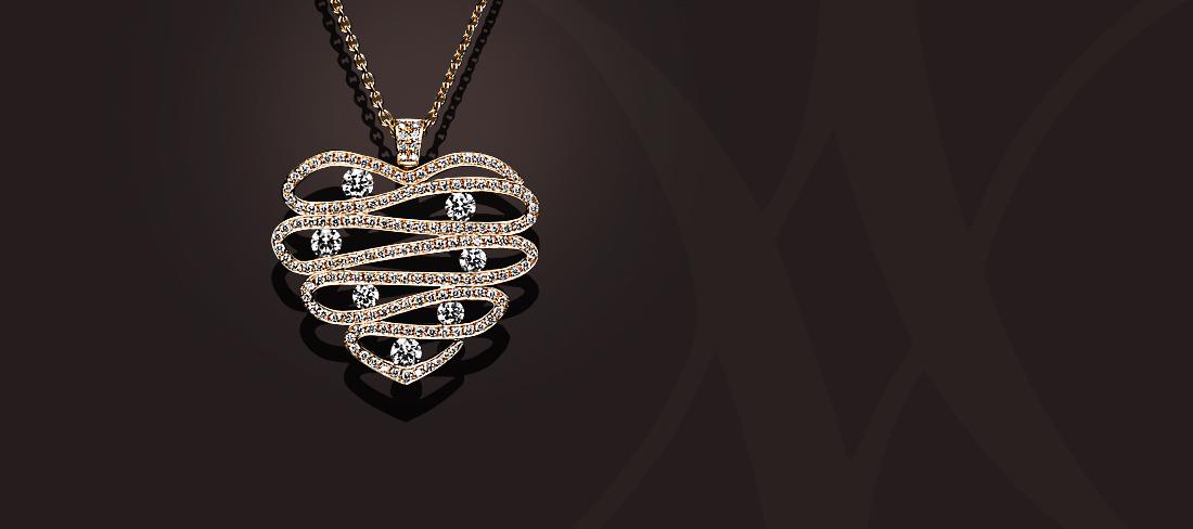 Parfums du Monde Pendentif OR Diamants