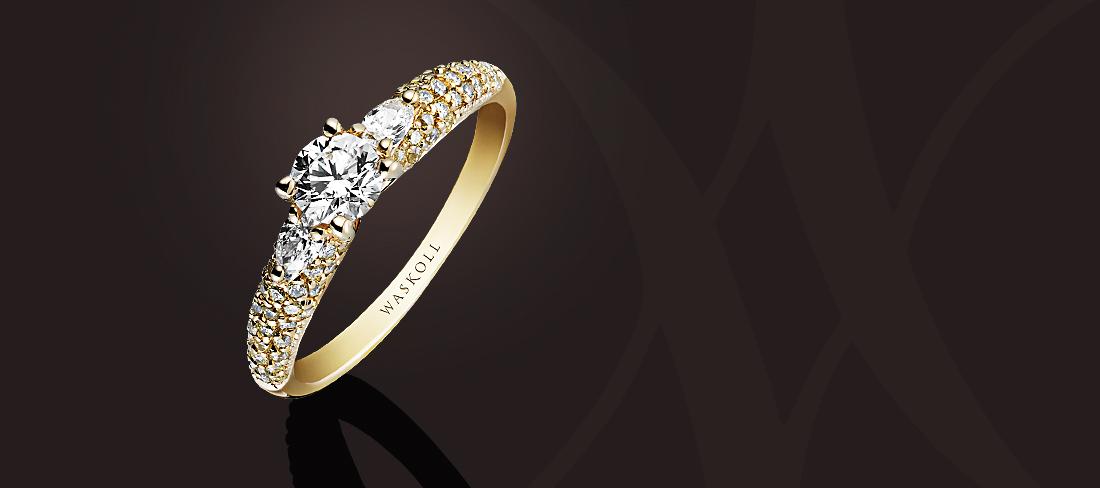 Promesse Bague OJ Diamants jaunes