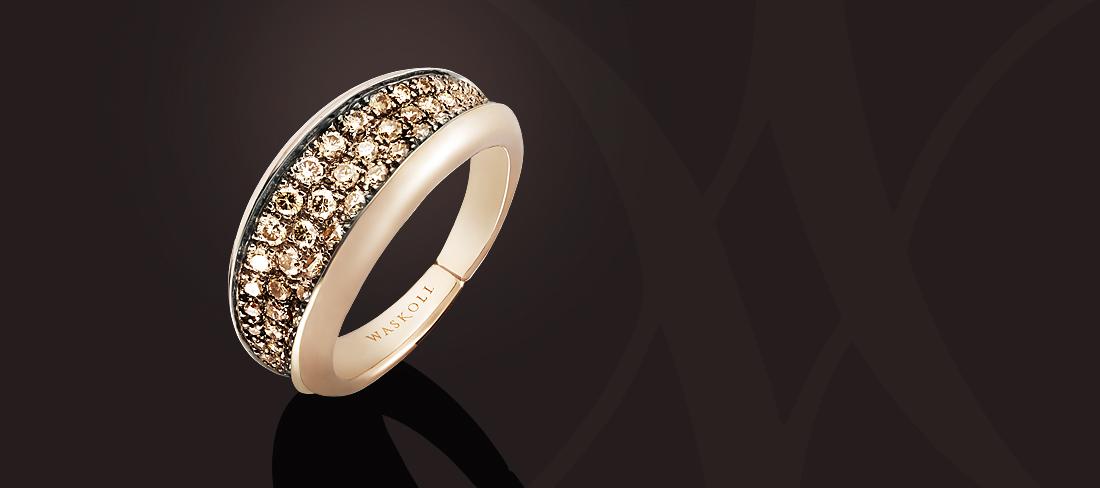 Tendresse Bague OR Diamants bruns