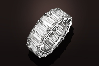 Unique Bague DABA001 or blanc diamants