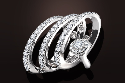 Bague French Hug or blanc