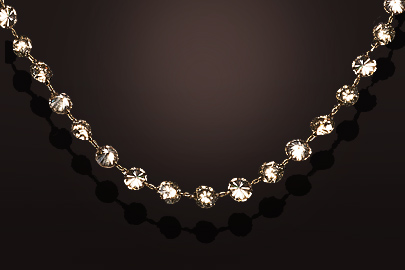 Collier or rose 52 diamants Champagne