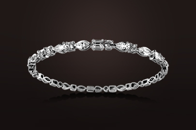 bracelet or blanc et diamants