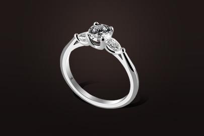 bague fusion or blanc diamant