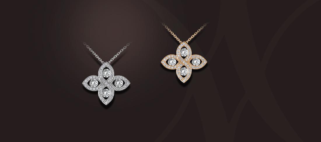 pendentif diamants