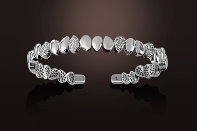 bracelet or blanc diamant
