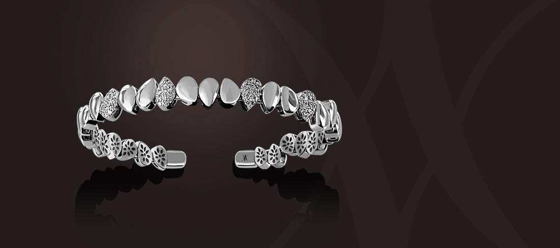 bracelet or blanc diamant