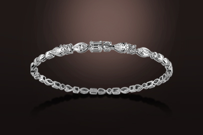 bracelet diamant or blanc