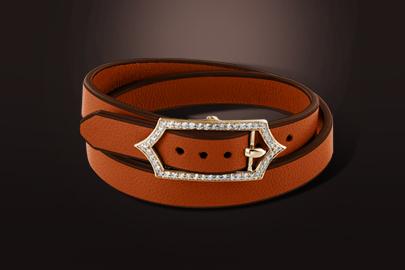 bracelet cuir diamant