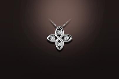 pendentif or blanc diamant 4