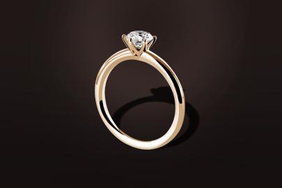 bague diamant six griffes