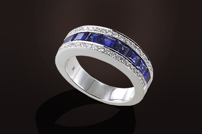 demi Alliance diamants saphirs